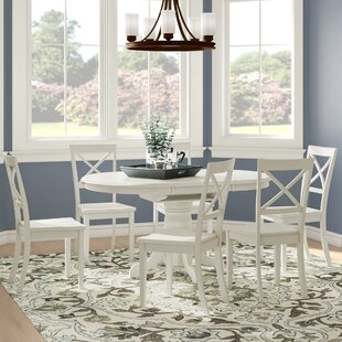 Emmaline 7 Piece Solid Wood Dining Set Alcott Hill