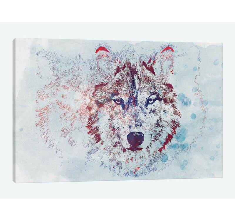 East Urban Home Watercolor Wildlife Ii Graphic Art Print On Canvas Wayfair