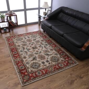 Rugsource Oriental Handmade Tufted Wool Black Brown Red Area Rug Wayfair