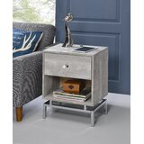 Giardina End Table with Built-In Outlets by Mercer41