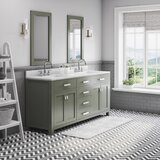 Madison 30 Double Bathroom Vanity Set with Mirror by Latitude Run