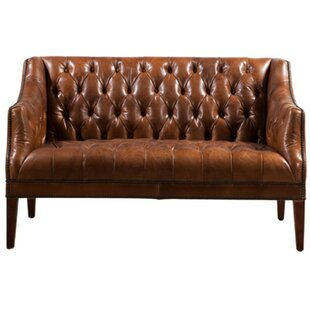 Redd Leather 2 Seater Chesterfield Loveseat By Williston Forge