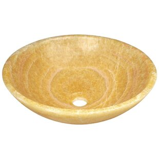 Reviews Honey Stone Circular Vessel Bathroom Sink By MR Direct