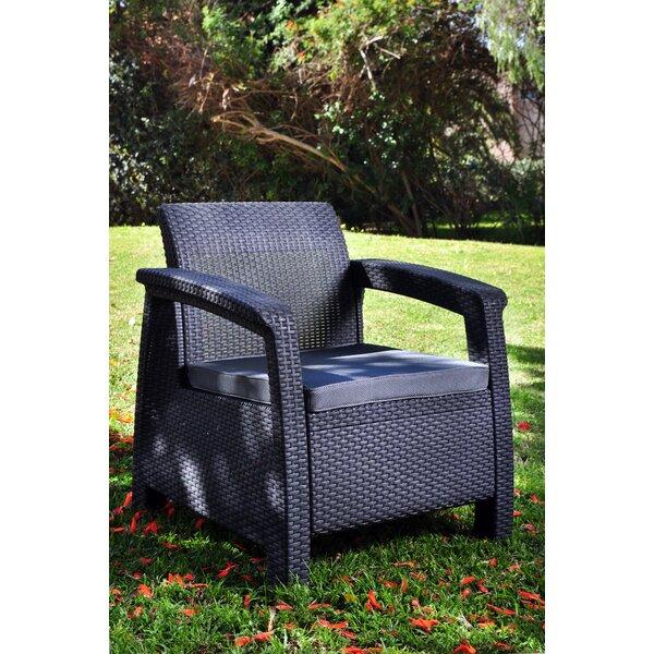 Mercury Row Berard All Weather Outdoor Armchair With Cushions U0026 Reviews    Wayfair