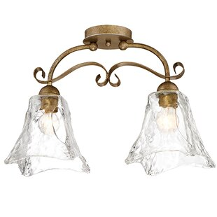 Whaley 2-Light Semi-Flush Mount by Fleur De Lis Living