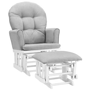 Rossi Semi-Upholstered Glider and Ottoman