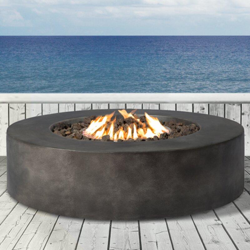 Grice Concrete Propane Gas Fire Pit Table