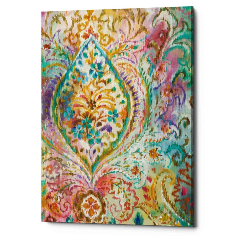 Boho Paisley II - Wrapped Canvas Painting - Tie-Dyed Wall Art