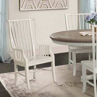 Miner Solid Wood Dining Chair with Arms (Set of 2) August Grove