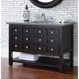 Kramer 48 Single Rectangle Cerused Espresso Oak Bathroom Vanity Set