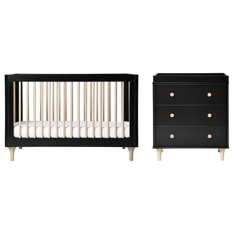 Lolly 3 In 1 Convertible 2 Piece Standard Crib Nursery Furniture Set