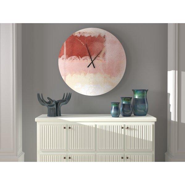 Ebern Designs Meteoric Stalwart Abstract Wall Clock Wayfair