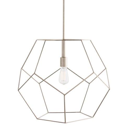 Arteriors home mara 1 light geometric pendant wayfair mara 1 light geometric pendant aloadofball Choice Image