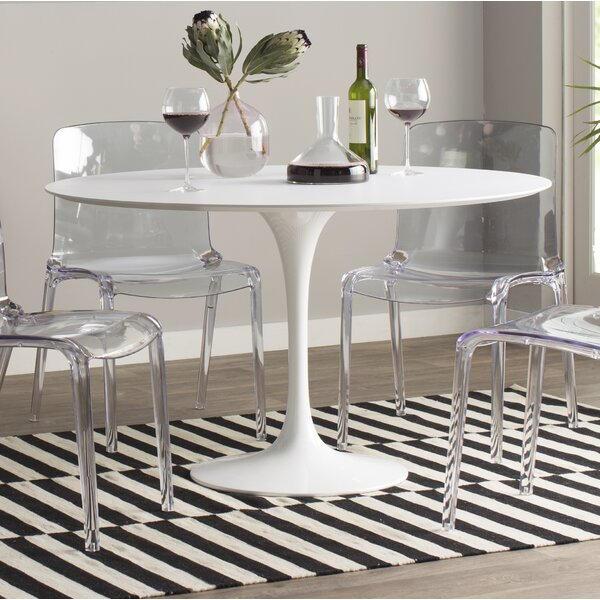 Modern Contemporary White Lacquer Dining Table Allmodern