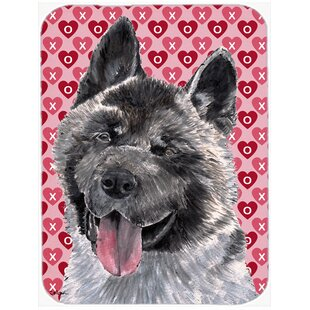 Valentine Hearts Akita Hearts Love and Valentine's Day Glass Cutting Board By Caroline's Treasures