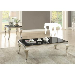 Everly Quinn Reinaldo 2 Piece Coffee Table Set