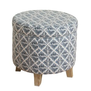 Cayuga Round Ottoman by Highland Dunes