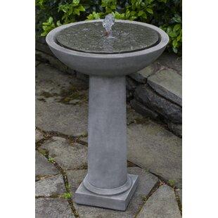 Campania International Cirrus Concrete Birdbath Fountain