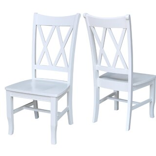 White Double X-Back Dining Chair (Set of 2) by Highland Dunes SKU:BB883849 Guide