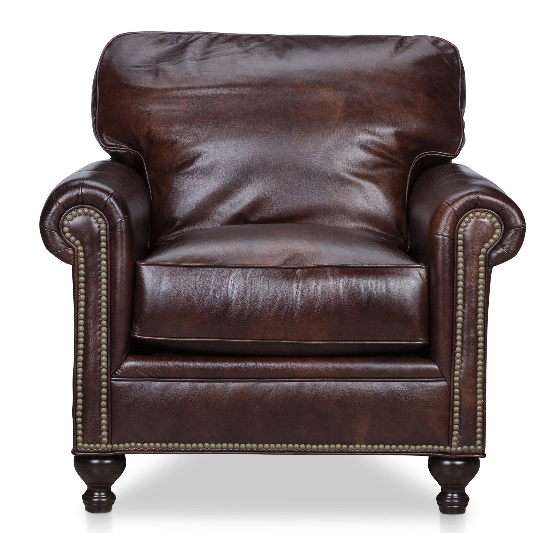 Amazing Mielke Genuine Leather Club Chair Spiritservingveterans Wood Chair Design Ideas Spiritservingveteransorg
