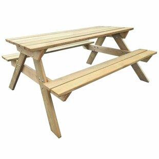 Wooden Picnic Bench by Lynton Garden