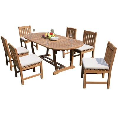 Maskell 7 Piece Teak Dining Set by Rosecliff Heights Today Sale Only