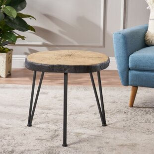 Compare prices Overton Light Weight Concrete End Table By Union Rustic