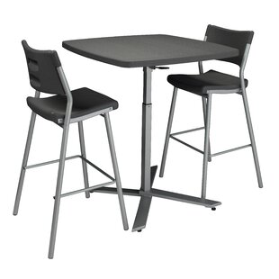 2 Piece Adjustable Pub Table Set by National Public Seating