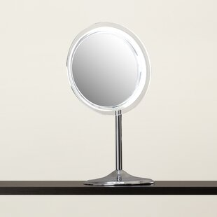 Symple Stuff Makeup Mirror with Pedestal