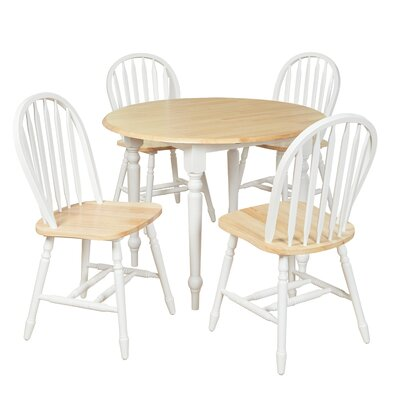 Cecelia 5 Piece Dining Set by Alcott Hill