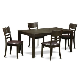 Lockmoor 5 Piece Dining Set Red Barrel Studio