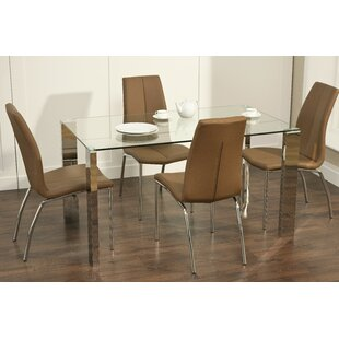 Kansas Dining Set With 4 Chairs By Zipcode Design
