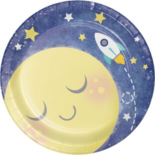 To the Moon and Back Paper Appetizer Plate (Set of 24)