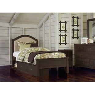 Shop For Stella Upholstered Panel Bed with Storage By Grovelane Teen