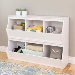 Leonor Stacked 6 Bin Storage Cubby