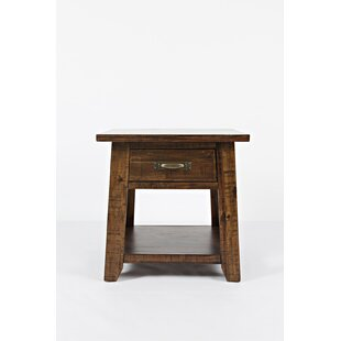Abilene Wooden End Table by Gracie Oaks