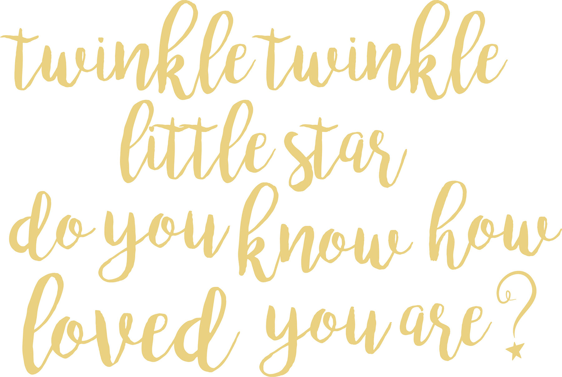 WallPops! Twinkle Little Star Quote Wall Decal | Wayfair