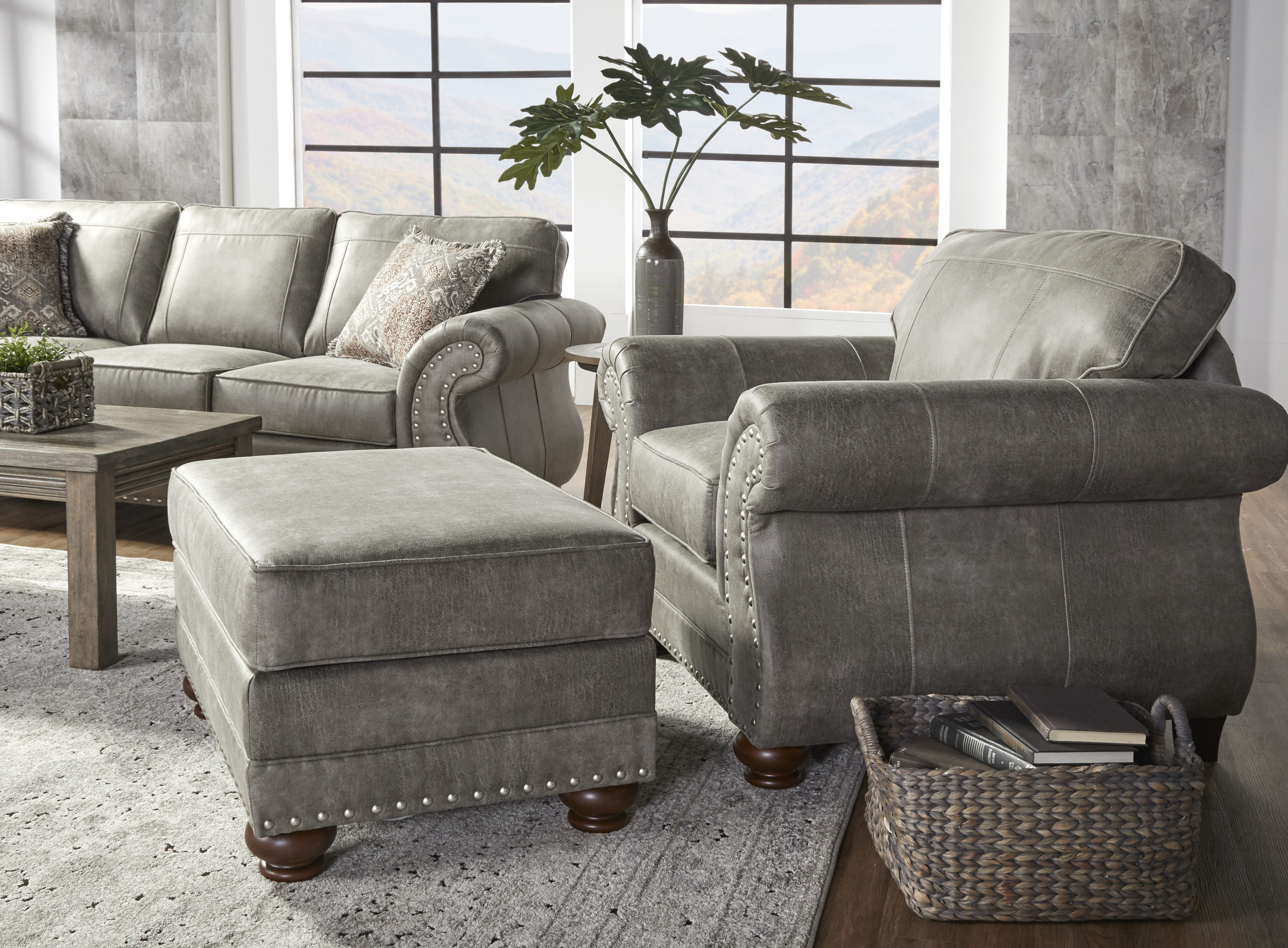 macalla armchair and ottoman
