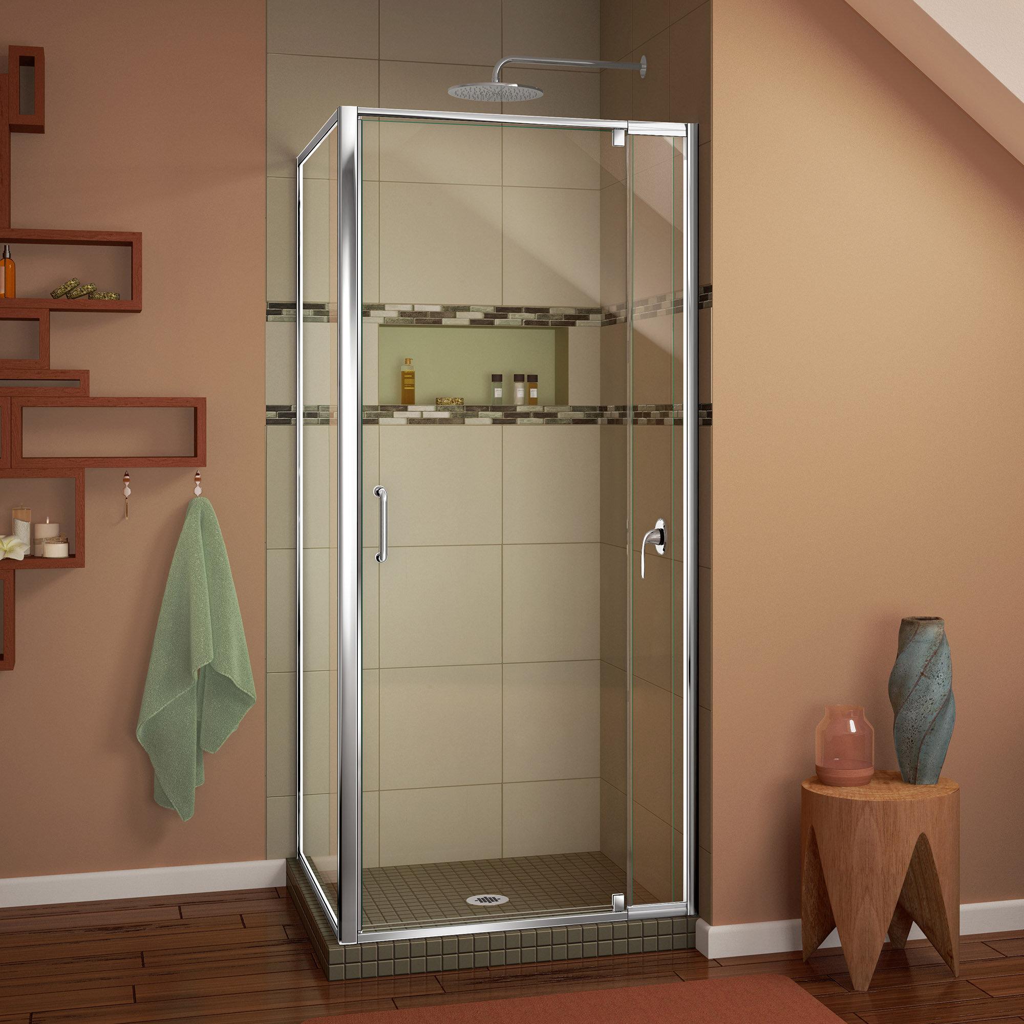 Dreamline Flex 32 44 X 72 Rectangle Pivot Shower Enclosure Wayfair