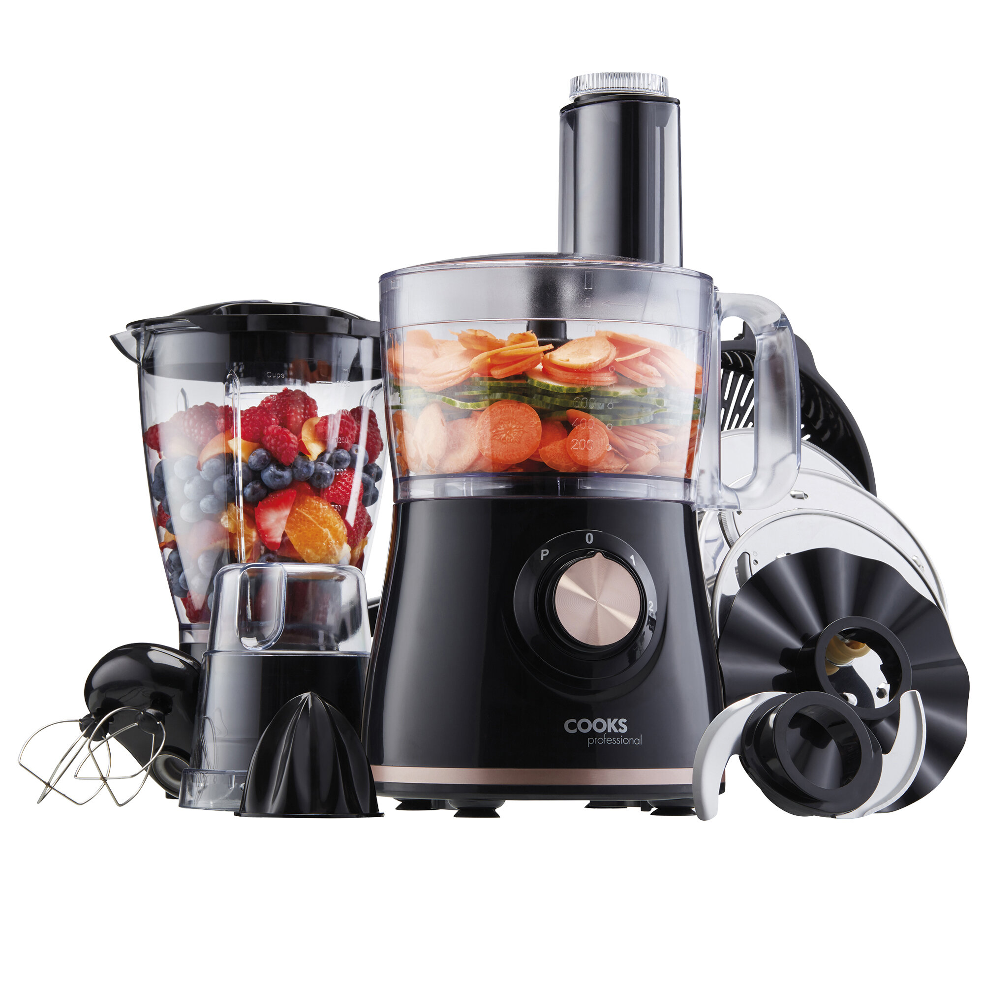 Food Processor with 12 Accessories