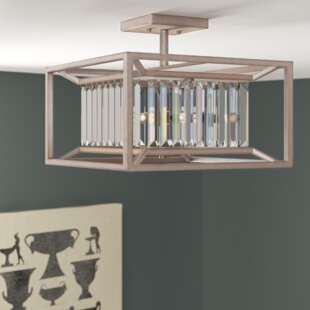 Syracuse 3-Light Semi Flush Mount by Greyleigh