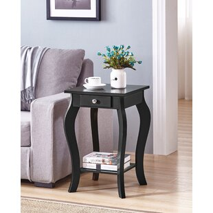 Charlton Home Rockhill Square End Table With Storage | Wayfair