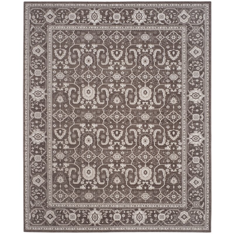 Alcott Hill Fleetwood Brown Area Rug, Size: Rectangle 9 x 12