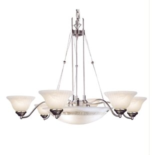 10-Light Shaded Chandelier by JB Hirsch Home Decor