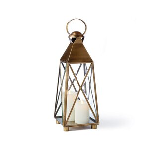 Breakwater Bay Glass and Metal Lantern