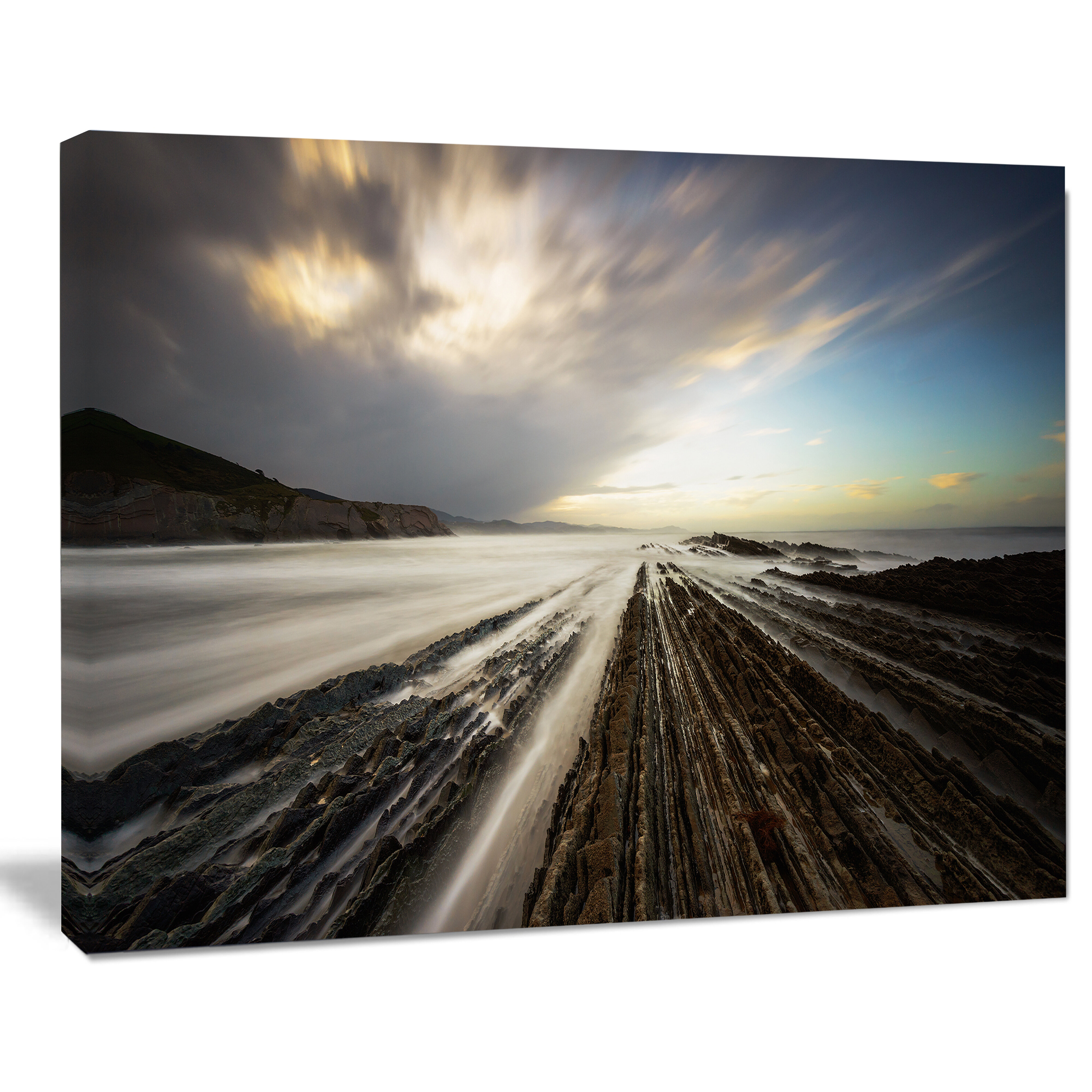 Designart Surreal Atlantic Ocean Coast Photographic Print On Wrapped Canvas Wayfair