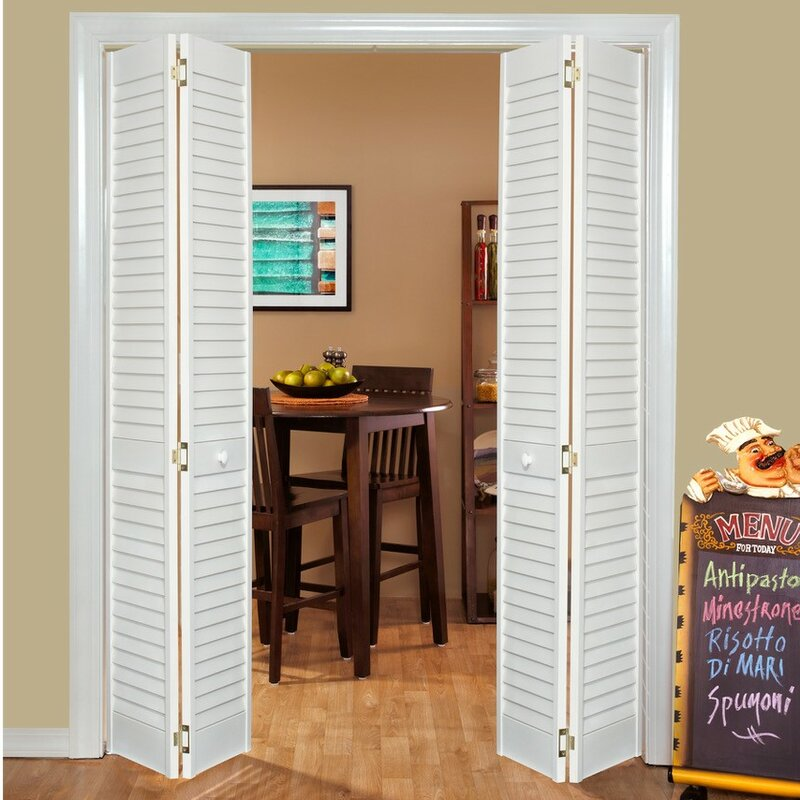Solid Wood Louvered Radiata Pine Bi Fold Door