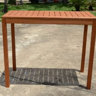 Vanesa Solid Wood Bar Table Image