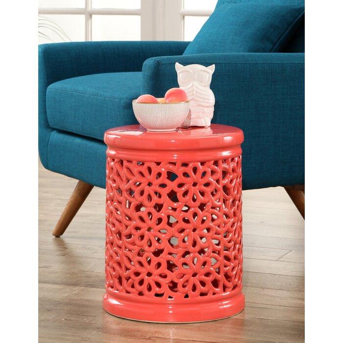 Super Burkholder Floral Cutout Garden Stool Beatyapartments Chair Design Images Beatyapartmentscom