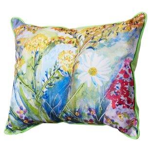 Baptiste Flower Indoor/Outdoor Lumbar Pillow